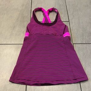 Lululemon Tank Top Hyper Stripe Raspberry